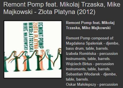 Remont Pomp feat. Mikołaj Trzaska Mike Majkowski Złota Platyna 2012