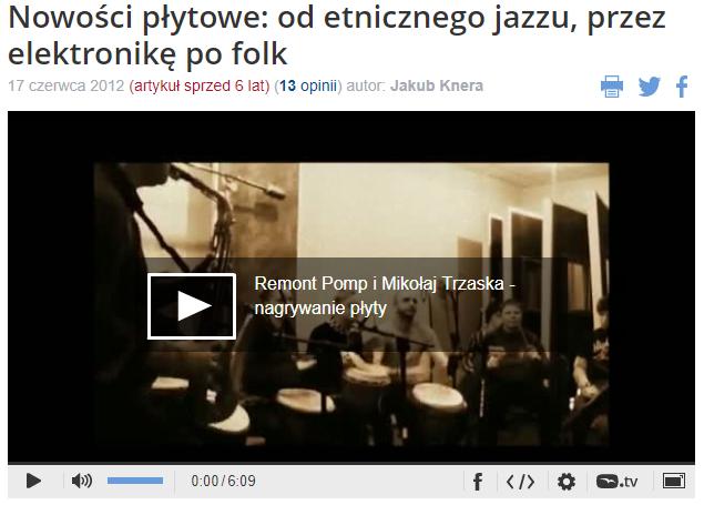 Remony Pomp i Mikołaj Trzaska nagrywanie płyty